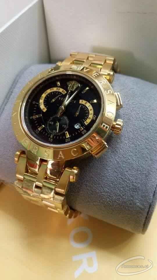 détails pour produits de commodité tout neuf Montre versace de beauté doré [120000 FCFA] : Annonce N ...