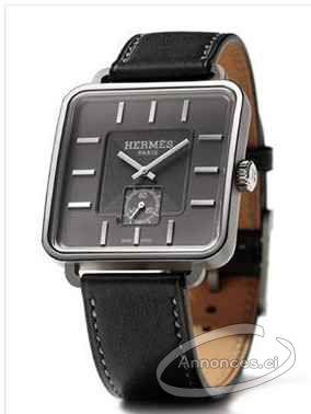 9a0a773ea24 Hermes carre h (copie parfaite) • bracelet en cuir noir • cadran carré  parfait aux angles arrondis • dimensions 36.5x36.5mm